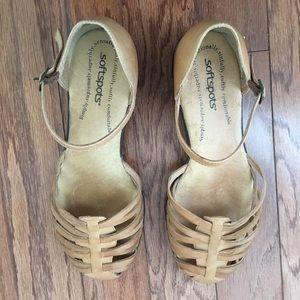 Softspots Women's Tatianna Tan Sandals SZ 9W